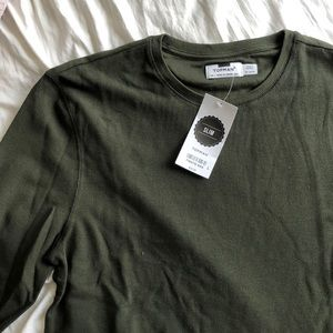 Long Sleeve Topman Shirt, Khaki
